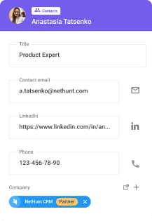 NetHunt contacts